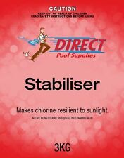 Pool Stabiliser For Swimming Pools UV Blockout. 3kg. Reduce Chlorine Usage!