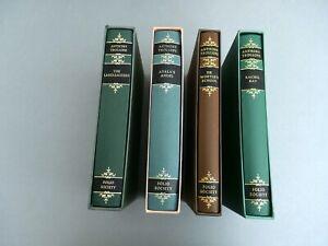 4 Folio Society Anthony Trollope Hardback Illustrated Novels with Slip Covers
