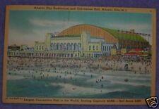 CONVENTION HALL, ATLANTIC CITY, NJ 1950 POSTCARD