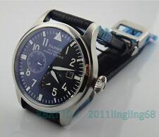 Parnis 47mm big pilot black dial Power Reserve Indicator automatic Men's watch