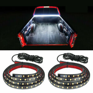 """2X 60"""" 12 LED TRUCK CARGO BED LIGHT STRIP KIT FIT FOR CHEVY FORD DODGE GMC BOAT"""