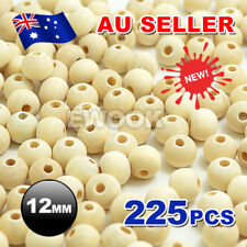 225pcs 12mm Round Wood Spacer Bead Natural Unfinished Wooden Beads Ball Teething