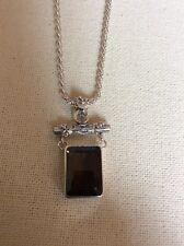 Gorgeous Lori Bonn Smoky Quartz Garnet Sterling Silver Pendant