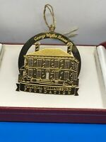 Vintage Colonial Williamsburg Foundation Ornament Brass George Wythe House