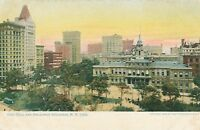 NEW YORK CITY – City Hall and Broadway Buildings – udb (pre 1908)