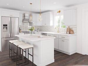 RTA Kitchen Modern White Shaker