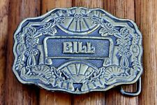 Vintage BILL Belt Buckle Made Of Solid Brass Meta By Oden USA LQQK!!!