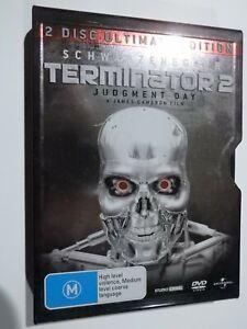 Terminator 2 Judgment Day 2 Disc Set DVD Including Tin Metal Case GOOD COND