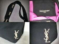 New Yves Saint Laurent Parfums YSL Black Canvas  Bag Eco Tote Bag