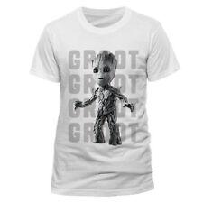 Camisetas de hombre de manga corta blancos LA