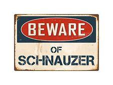 "Beware Of Schnauzer 8"" x 12"" Vintage Aluminum Retro Metal Sign Vs371"