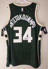Giannis Antetokounmpo Signed Nike NBA Swingman Jersey JSA & ANTETOKOUNMPO COA