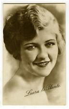 1920's Vintage Film Movie Star LAURA LA PLANTE antique British photo postcard