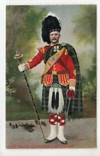 PIPE MAJOR, SEAFORTH HIGHLANDERS: Military postcard (C43376)