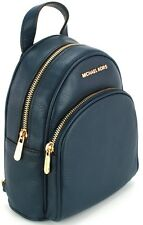 Michael Kors Backpack Bag Navy Blue Pebbled Leather Mini Abbey Small RRP £270