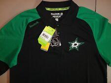 NWT Raglan Polyester Reebok Playdry Dallas Stars NHL Hockey Polo Shirt S RTL $65
