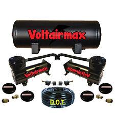 Voltair 444C Black Air Compressors & 5 Gallon Air Tank Ride bag kit 200psi