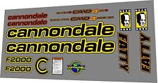 CANNONDALE F 2000 FRAME DECAL SET