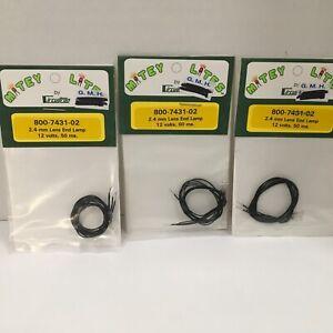 Circuitron Mitey Lites 800-7431-02 2.4mm Lens End Lamp 1.2 Volts 50 Ma.
