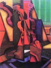 Juan Gris Violino Chitarra Old master painting print poster riproduzione 1785omb