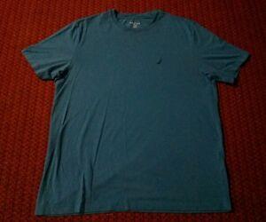 Nautica Unisex Large Blue Cotton Blend Sleep T Shirt