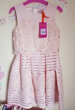 Ted Baker Girl's Pink Floral Lace Dress. 7 Years. Rrp £62.00. Designer