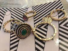 New By Avon Ring Set Enya Ring Set 6 Rings Different Sizes 3,4,6,7,8,9 Gold ....