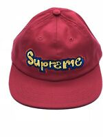 New Supreme Gonz Logo 6-Panel Cap Hat Red New SS18 100% Authentic
