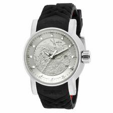Invicta S1 Rally Men Silver Dial Black Wristwatch - (15862)