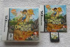 Go Diego Go! gran dinosaurio rescate NINTENDO DS v.g.c. rápido post (familia/hijos)