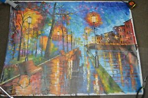 """Leonid Afremov Original Oil Painting """"Melody of the Night"""" 40x30 Canvas"""