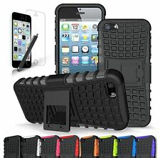 Apple iPhone 5/ 5S Heavy Duty Rubber Hard Kickstand Case Cover