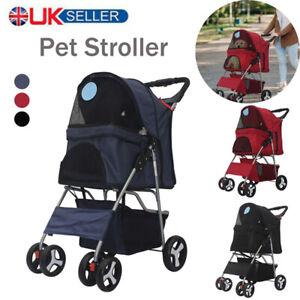Foldable Pet Stroller Cat Dog Trolley Puppy Pushchair Travel Cart Carrier Walk