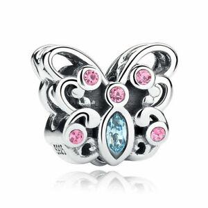 Hot 1Pcs Silver European Cz Charm Crystal Spacer Beads Fit Necklace Bracelet Diy