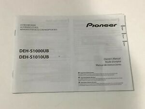PIONEER  OWNER  MANUAL FOR AM  FM CD  RECEIVER    DEH-S1000UB   DEH-S1010UB