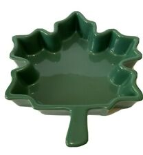 Chantal Ceramic Baking Dish Green Maple Leaf 1 quart Size Casserole Oven 93MP22