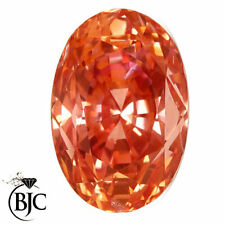 Eye Clean Padparadscha Oval Loose Natural Sapphires