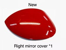 "Peugeot 206 206+ Right Driver Side Wing Mirror Cover Cap Near Side Red Aden""New"