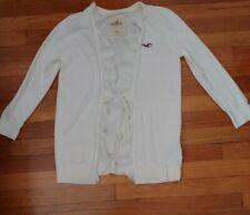 Ladies Size M Hollister Cream Chiffon Detail Cardigan BNWT