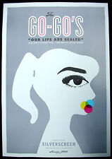 GO GO's Our Lips Are Sealed 2005 US Promo POSTER Nordstrom SILVERSCREEN Mint!