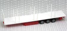 Herpa 076845 Lowliner-flachbett-auflieger 3-achs weiß