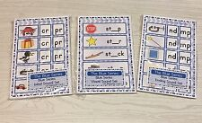 The Blue Series - Initial, Vowel And Ending Wipewriter set - Montessori