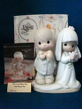 Precious Moments Figurine The Lord Bless You & Keep You Bride Groom Cake Topper