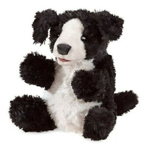 Folkmanis Black and White Dog Small Puppet