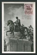 POLEN MK 1956 REITER DENKMAL PFERD HORSE MAXIMUMKARTE MAXIMUM CARD MC CM c9169