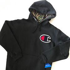 Supreme x Champion Paisley Hoodie sz.L Pullover F/W 13 Black Box Logo Sweatshirt