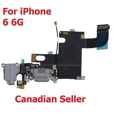 "Black Headphone Audio Dock Connector Charging USB Port Flex Cable iPhone 6G 4.7"""