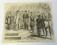 1885 magazine engraving~ ULYSSES S GRANT At SURRENDER OF VICKSBURG