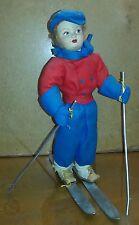 36061 Bambola in panno Lenci - Sciatrice - h cm 36