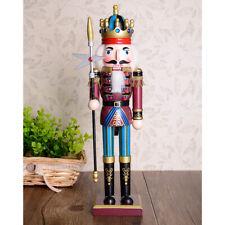 MagiDeal 30cm Wood Nutcracker Soldier Figures Model Xmas Home Ornament Gift